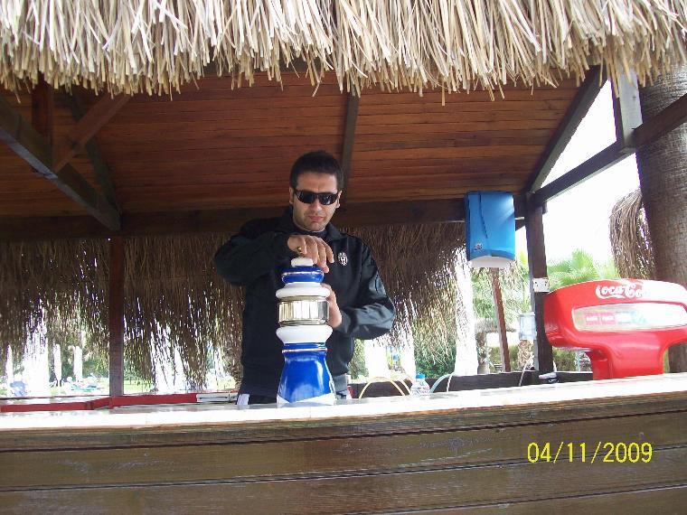 beach bar ve barmın