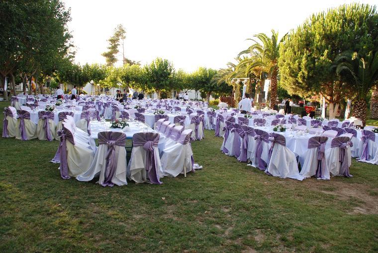 Yaz alarında yapılan düğün resimi